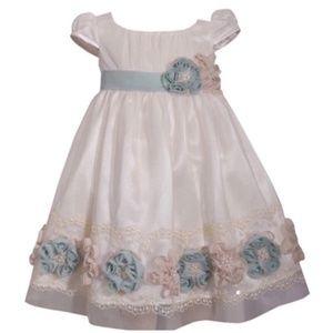 NWT Bonnie Jean Empire Waist Lace Sequin Dress 3T
